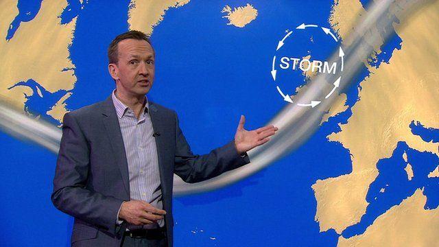 BBC weather presenter Nick Miller