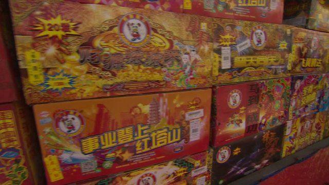 Fireworks on sale in Beijing