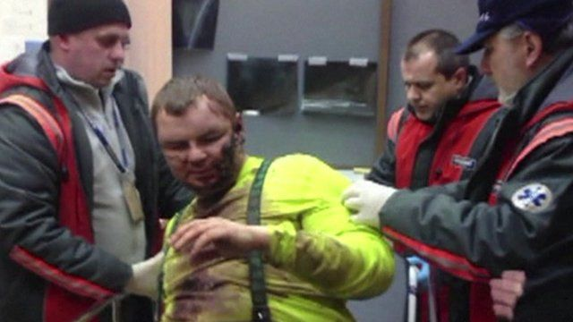 Dmytro Bulatov an anti government protestor in hospital