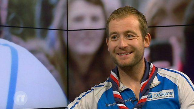 James Ketchell on the Newsround sofa