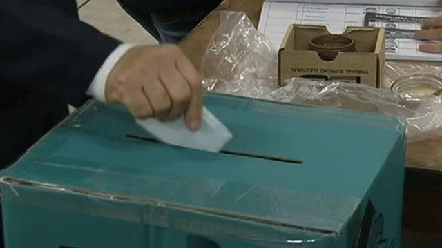 Vote being posted in ballot box