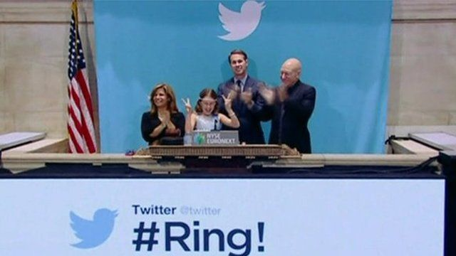 Twitter launch at New York Stock Exchange