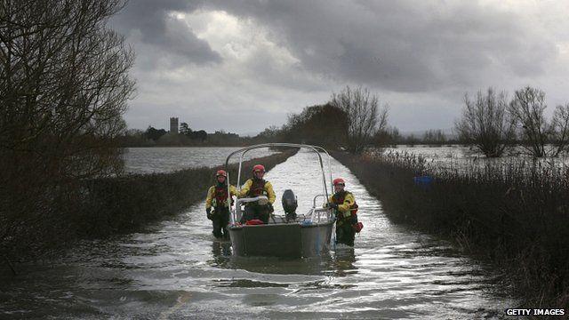 Flooding on Somerset Levels