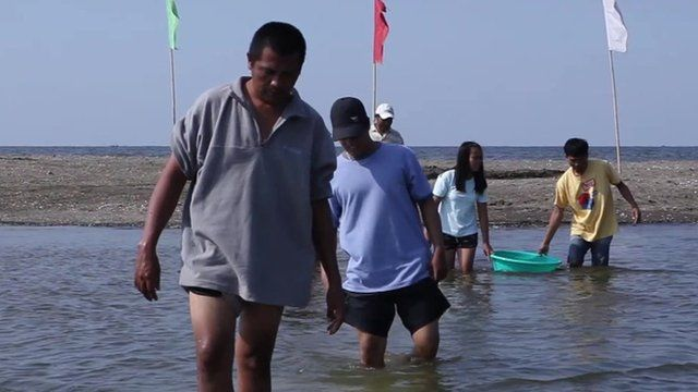 People fishing in Philippines