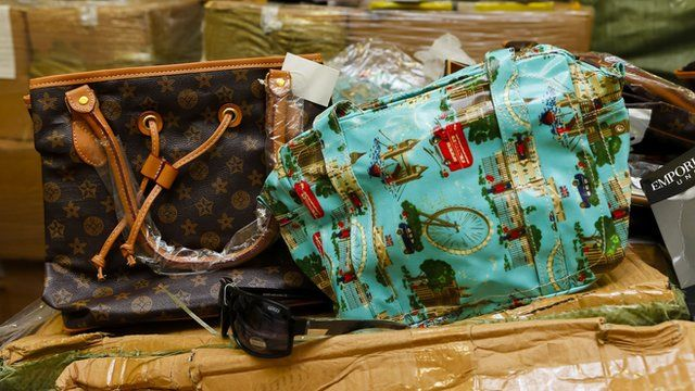 Counterfeit goods seized in Southampton including fake Louis Vuitton and Cath Kidston bags and Gucci sunglasses