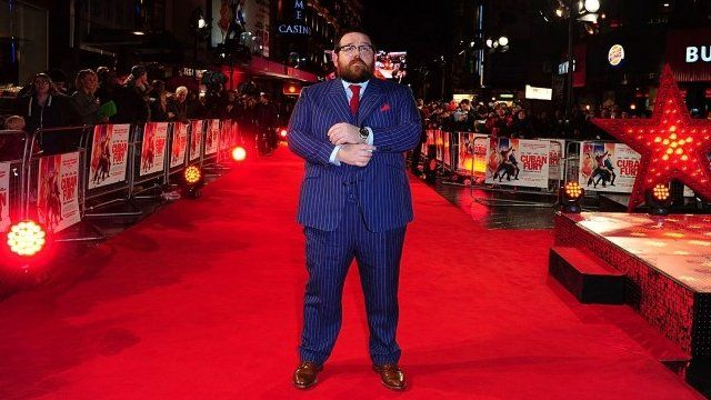 Nick Frost on Cuban Fury's red carpet