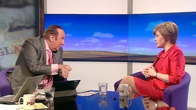 Andrew Neil and Nicola Sturgeon