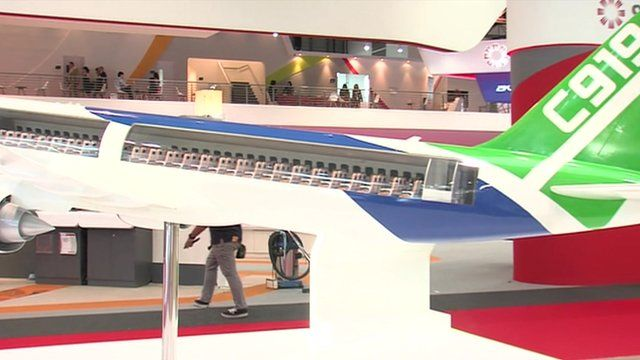 Mock-up of Comac's C919