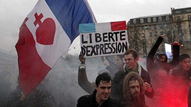 French protest in January about economy and lack of freedom