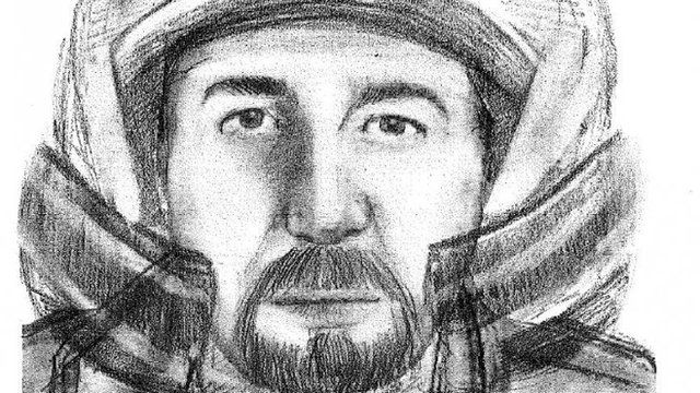 Artist's impression of man sought in connection with Alps murders