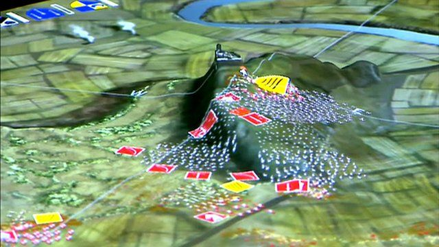 3D map of battle of Bannockburn