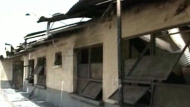 School building in Yobe state following attack