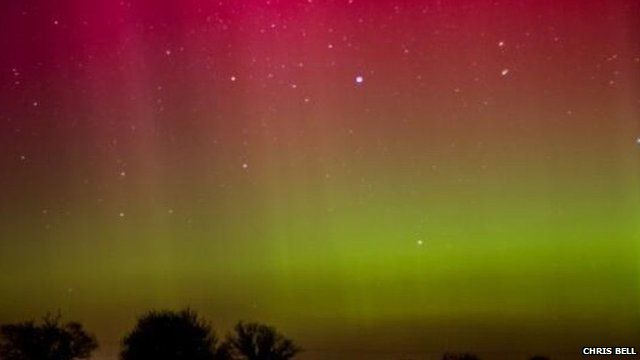 The Northern Lights in Foxley, Norfolk