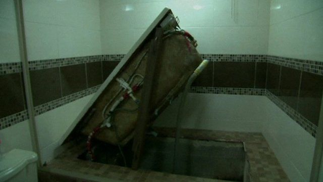 Entrances to secret tunnels were hidden under bath tubs