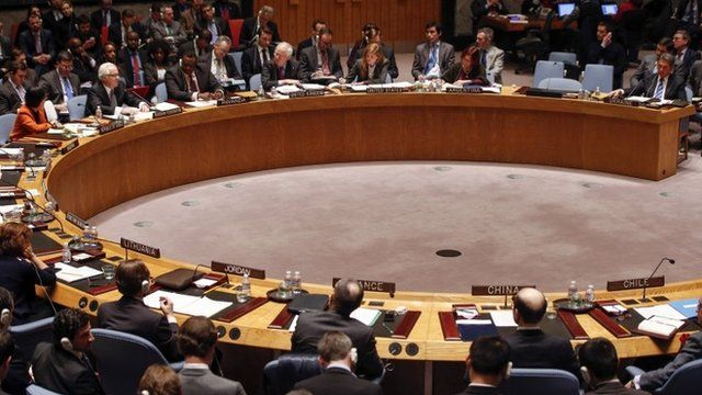 Security council members attend a meeting on the crisis in Ukraine at the UN headquarters in New York March 3