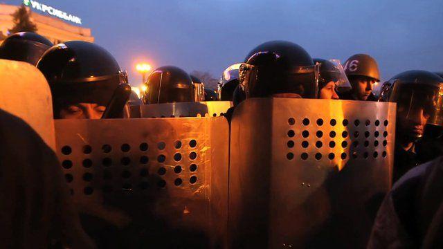Riot police in Kharkiv