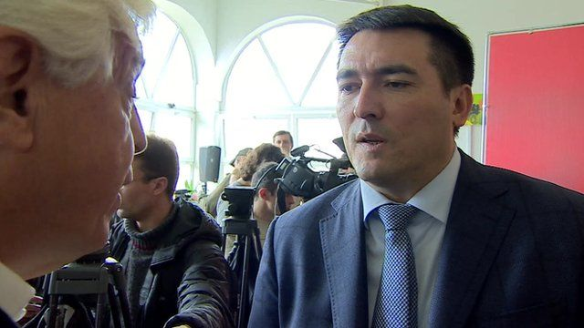 Rustam Temirgaliyev speaks to John Simpson