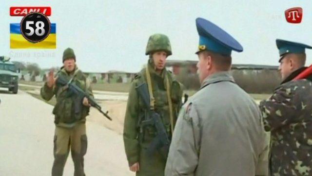 Military scene in Ukraine