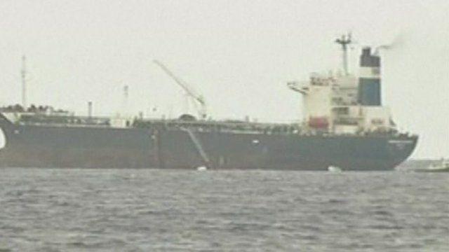 A tanker at Sidra port