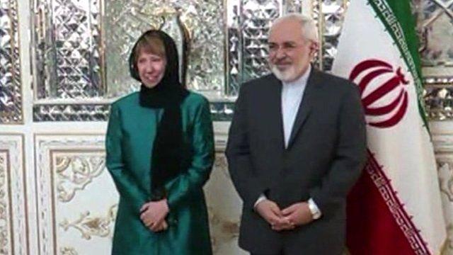 Catherine Ashton and Mohammad Javad Zarif