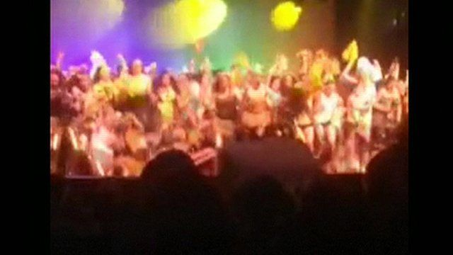 School stage collapses