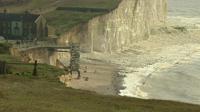 Effect of erosion on Sussex coastline