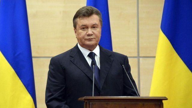 Viktor Yanukovych.