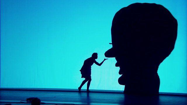 A performance by modern dance troupe Pilobolus