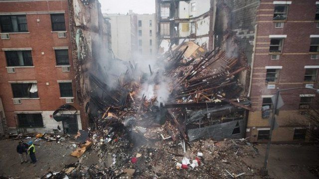 Collapsed building in Harlem