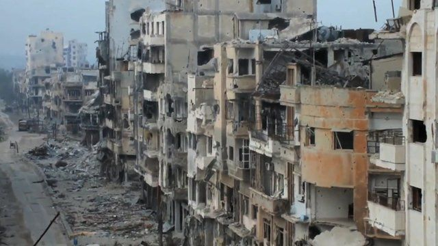Bombed out buildings