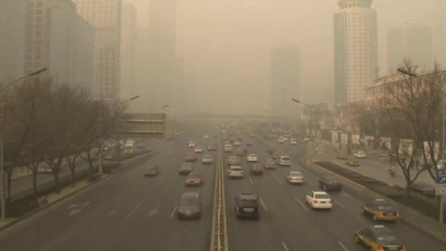 Beijing skyline filled with smog