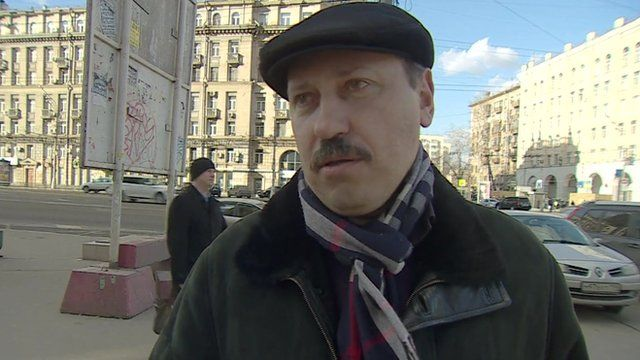 A man in Moscow