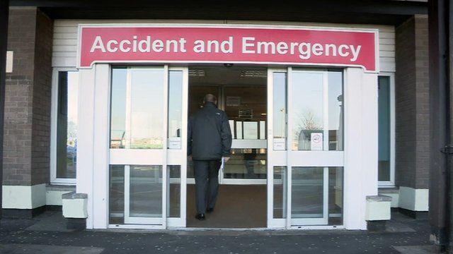 Doors of an A&E department