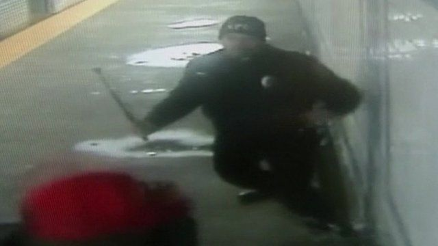 Ron Jones tackles gun suspect