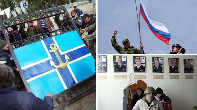 Sevastopol navy base stormed