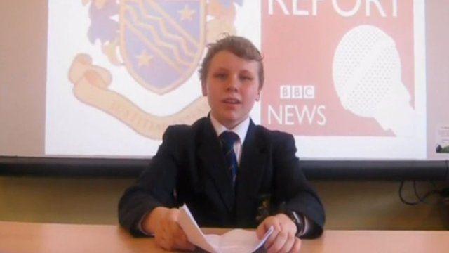A pupil at Bangor Grammar