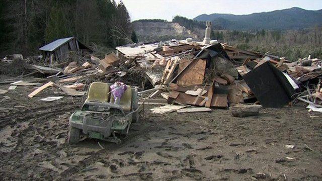 Landslide devastation