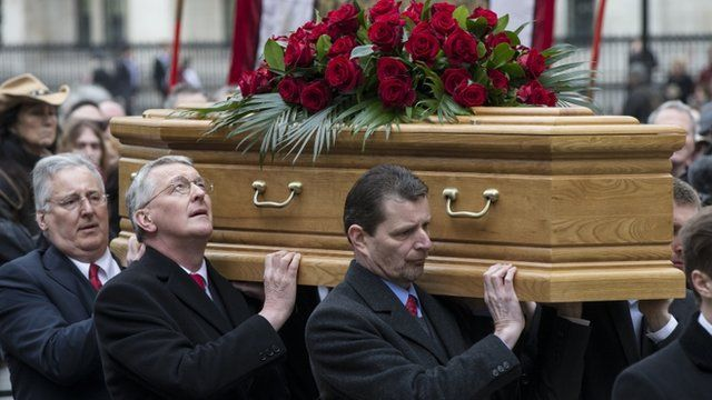 Stephen and Hilary Benn among the pallbearers at the funeral of their father, Tony Benn
