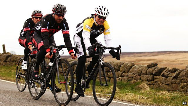Cyclists in Yorkshire