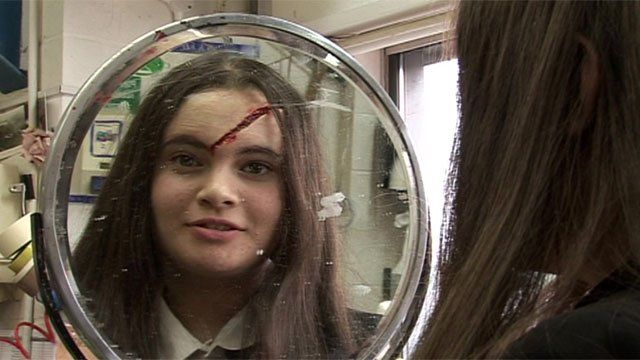 Lampton High School pupils try out some of the special fx