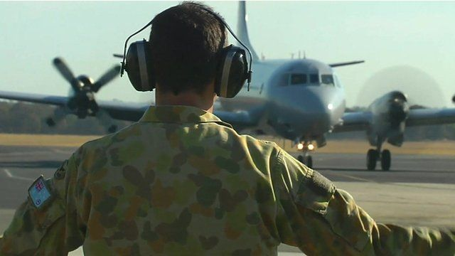 Search plane on tarmac in Australia