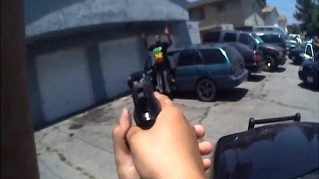 Body-worn camera captures Rialto police making an arrest