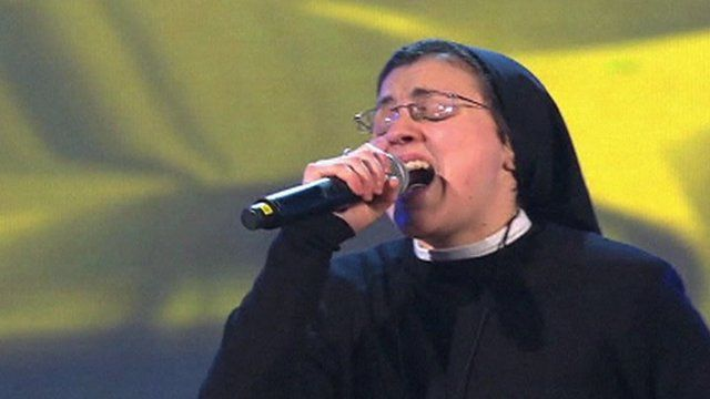 Nun singing on The Voice