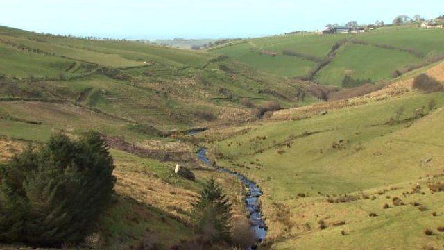 Landscape around Watertop Farm in Ballycastle
