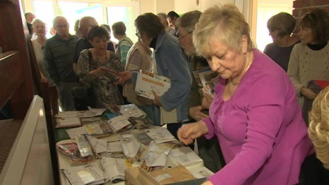 Mail being sorted