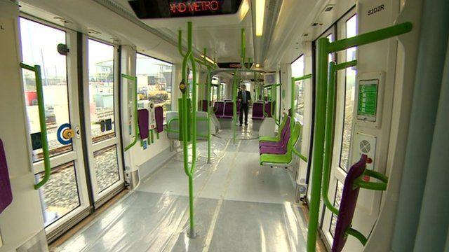 Inside the trams