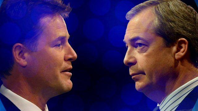 Nick Clegg (left) and Nigel Farage