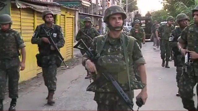 Soldiers in Rio de Janeiro