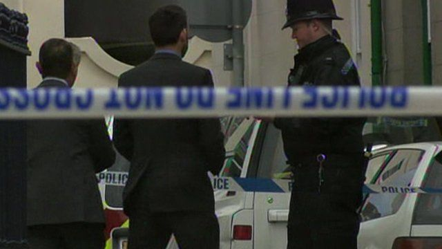 Police at scene in St Helier
