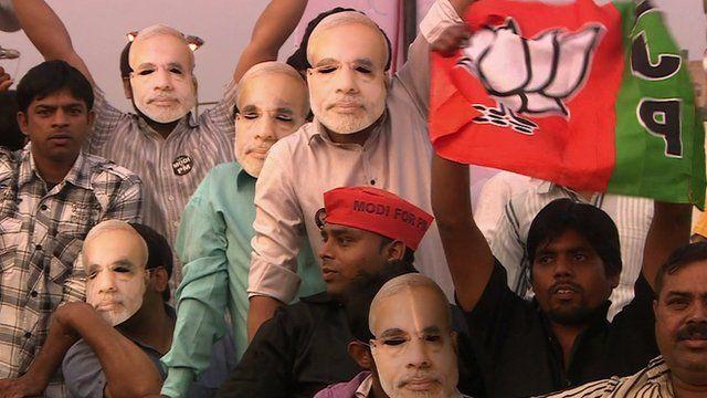 Supporters of Narendra Modi
